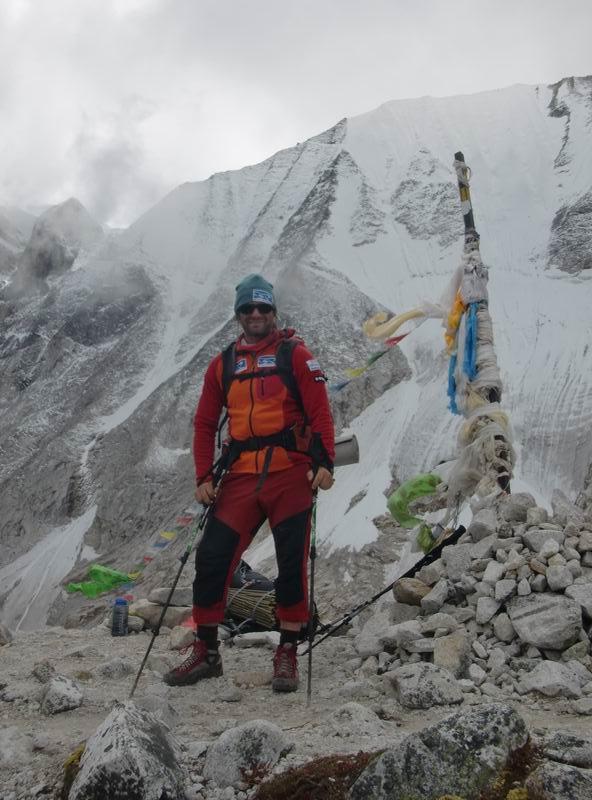 Klein Dávid már az alaptáborban (4800 m)